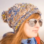 Easy Knit Hat Aspen Ice Hat three-quarters view thumbnail