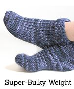 Blue super-bulky-weight socks