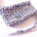 Tiny Swatch How to Knit a Swatch in a Hurry lightened