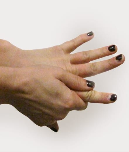 Myofascial stretch for sore fingers