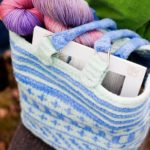 Felted Fair-Isle bag, top view