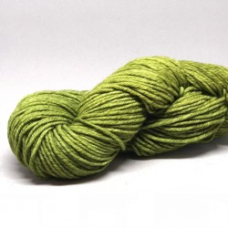 A green skein of Malabrigo Twist yarn (037 Lettuce)