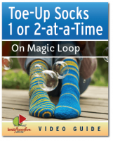 Toe Up Socks 1 or 2 at a Time on Magic Loop - Video Class