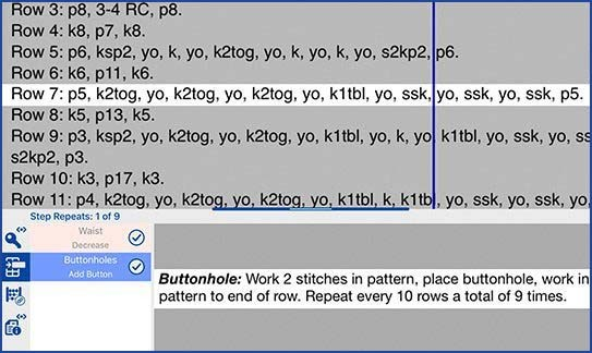 Reminders in knitCompanion