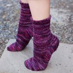 Toe up socks Malabrigo worsted rios rbg sm